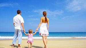 На море с детьми
