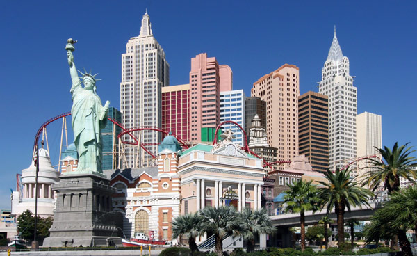 Американские горки в отеле Нью-Йорк Нью-Йорк (The NYNY Roller Coaster)