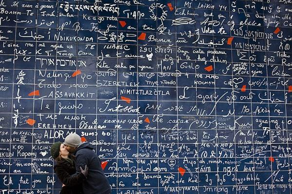 Монмартр стена любви