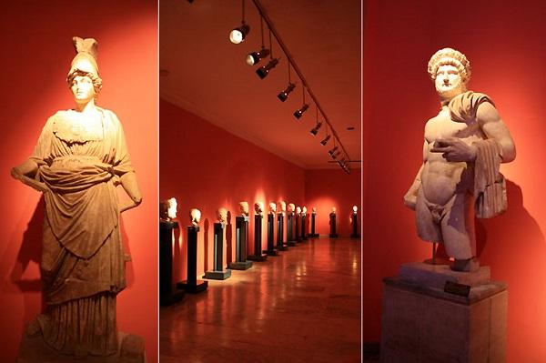 Археологический музей внутри