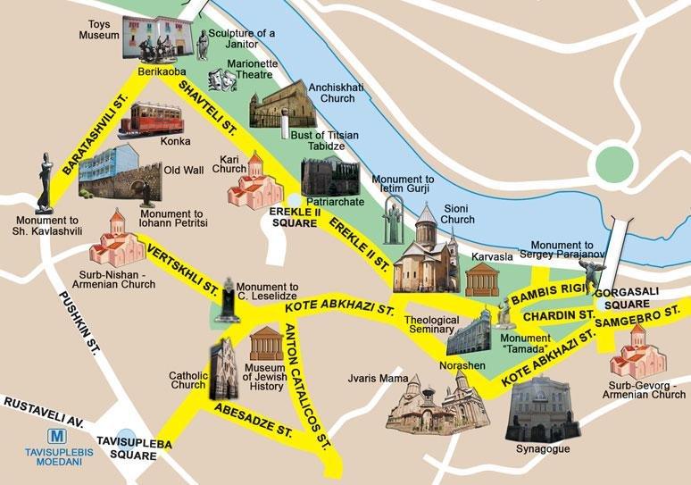 Карта Тбилиси
