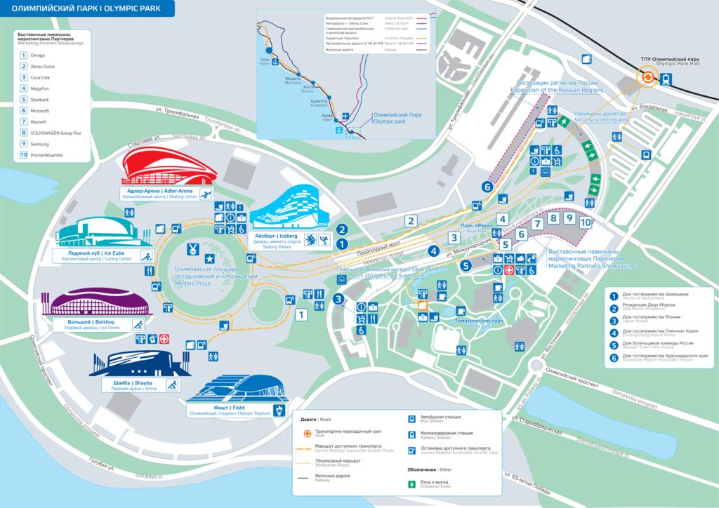 Схема Олимпийского парка
