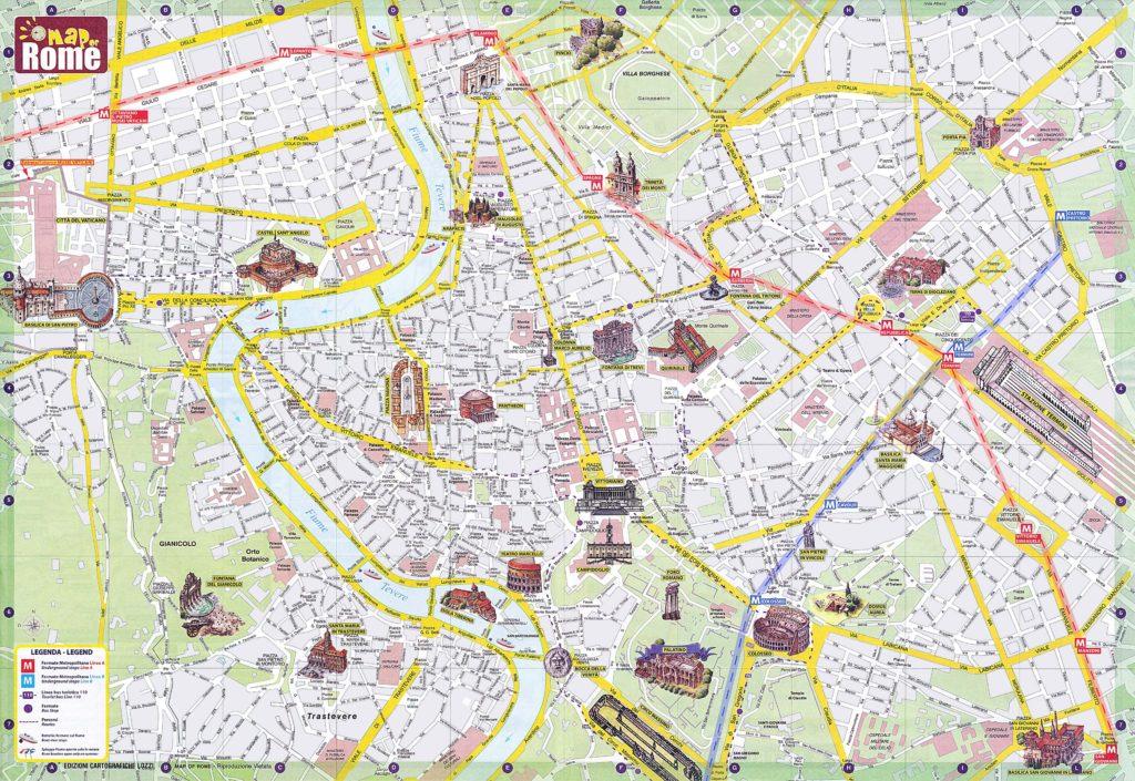 Рим карта города