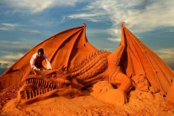 Парк скульптур из песка «Забытая страна»