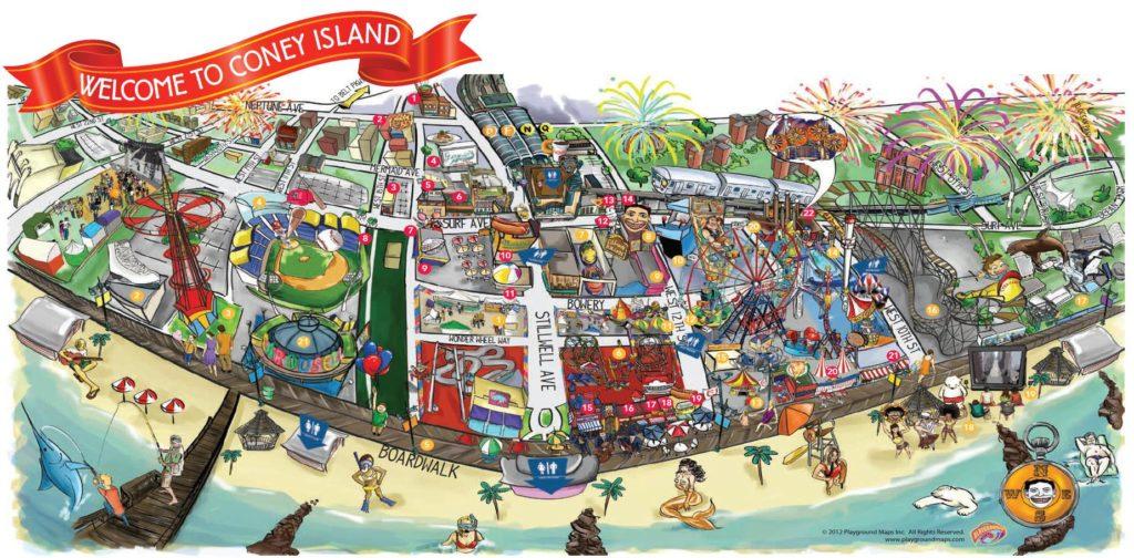 Карта Кони-Айленд