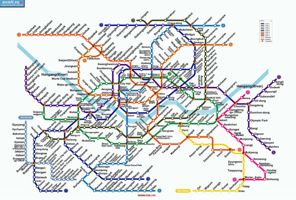 Схема метро Сеула